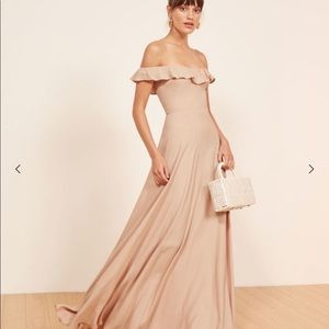 Reformation Verbena Maxi Dress Champagne Gown